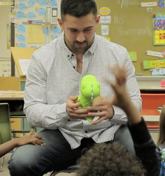 Your new kindergarten teacher is a small, green dinosaur