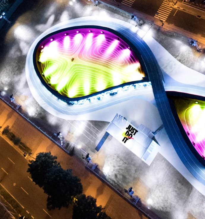 Nike unveils its futuristic running track