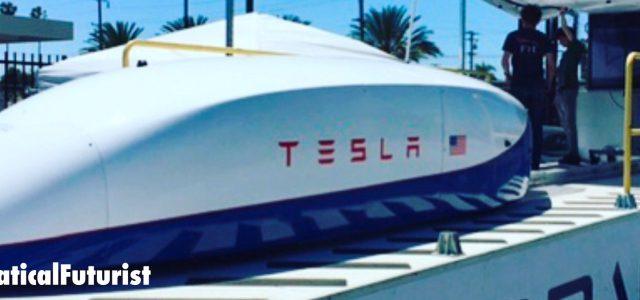 Tesla enters the Hyperloop race, instantly breaks speed record