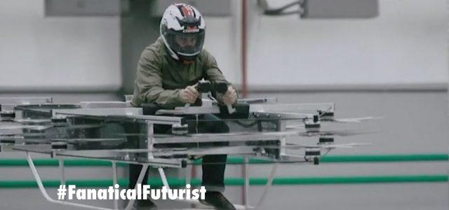 Kalashnikov show off their first ever hoverbike