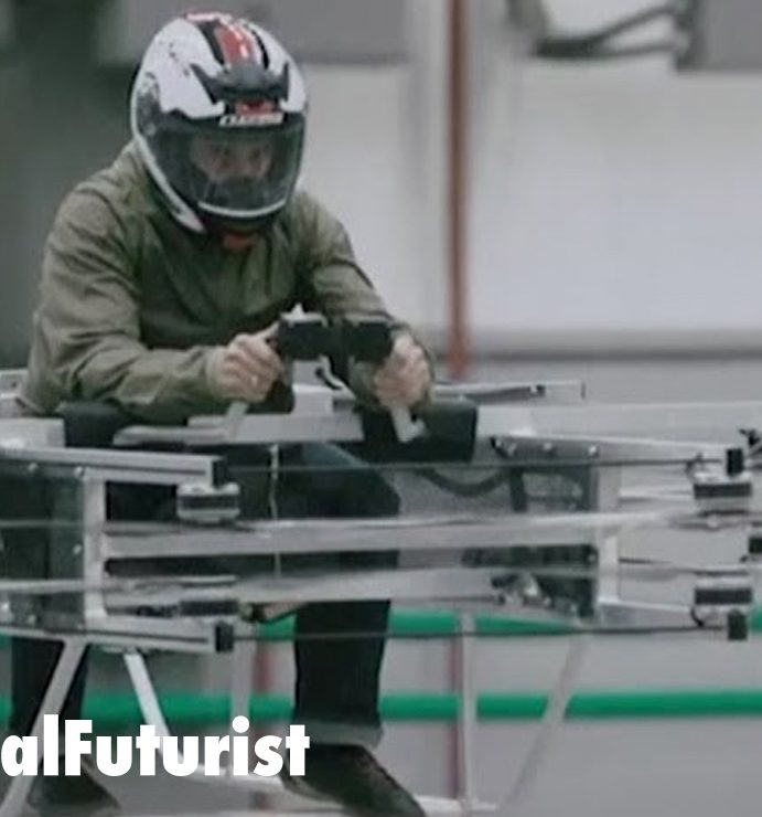 Kalashnikov show off their first ever hoverbike