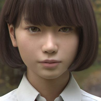 This CGI school girl has you fooled