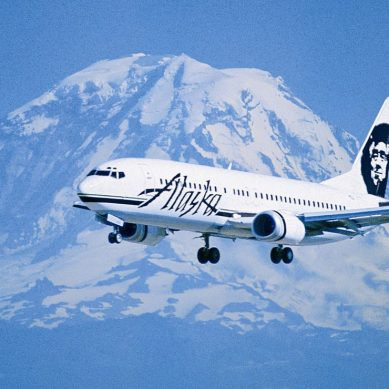 Alaskan airlines use wood chips to fly to Washington