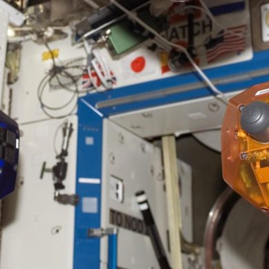 ISS SPHERE drones learn to see and fly around in space all by themselves