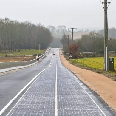 France opens the worlds first solar panel road to the public