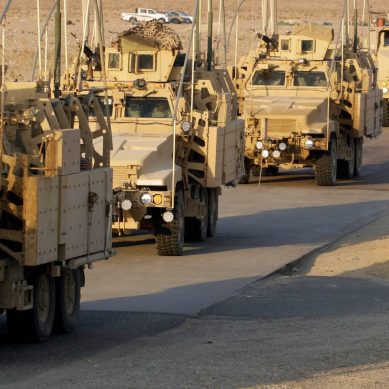 The US Army tests convoys of autonomous trucks in Michigan