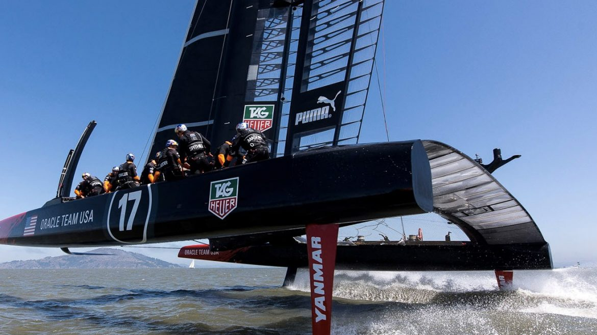 Oracle's America's Cup yacht will never sail, because it flies