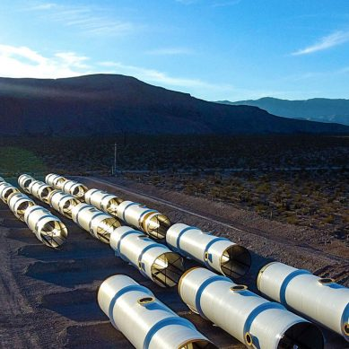 Hyperloop One have built the world's first Hyperloop test track