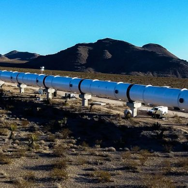 Hyperloop One announces first test run of its propulsion system in Las Vegas desert